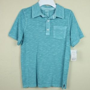 Carters Short Sleeve Collared Shirt Blue Polo